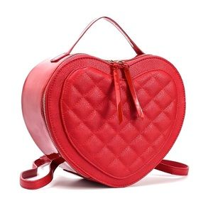 Red Heart Quilted Backpack